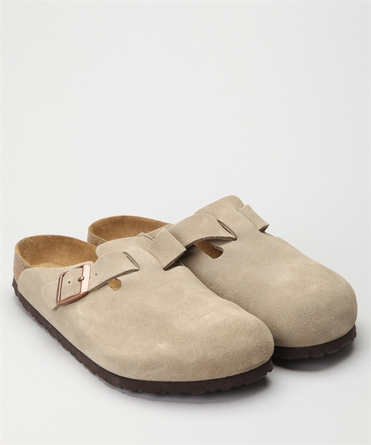 Birkenstock Boston Taupe Suede 1