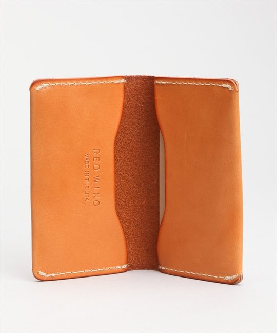 Red Wing Shoes Card Holder Wallet Veg Tan 95029 95013