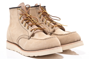 Red Wing Shoes 8173 Moc Toe Tan Suede