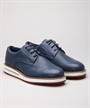 Barleycorn Air Derby Perforated Calf Blue