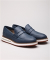 Barleycorn Air Moccasin Blue Calf