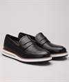 Barleycorn Air Moccasin Black Calf
