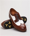 Fiddler Golf City Brown/White Calf